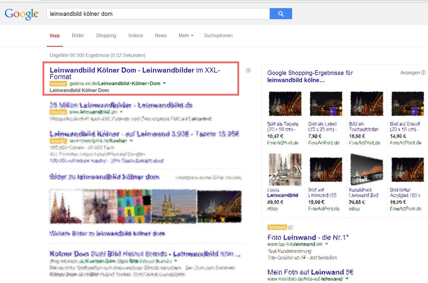 GALERIA XXL Google Suchergebnisse